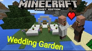 minecraft pe wedding garden event setting