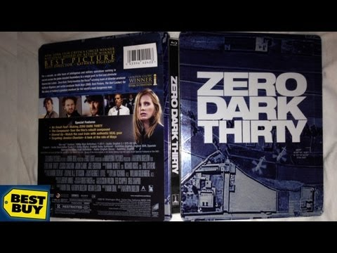 Zero Dark Thirty Best Buy Exclusive Blu-ray/DVD SteelBook Unboxing - (2012) - Jessica Chastain