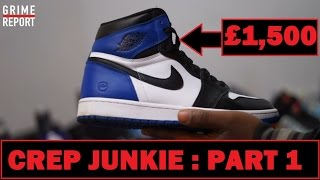 Crep Junkie Shows Us His Trainer Collection (Part 1) #TrainerGame  Grime Report Tv