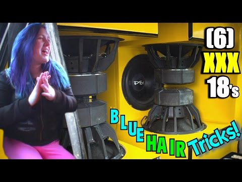 Bass Mom & Double Hairtricks W  Six Xxx 18 Subs On 15000 Watts! Crazy Loud Car Audio Subwoofer Flex video