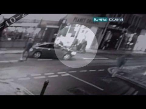CCTV of anti-terror arrest on west London street