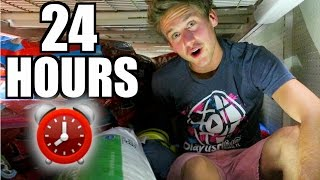 24 HOUR TOILET PAPER FORT!
