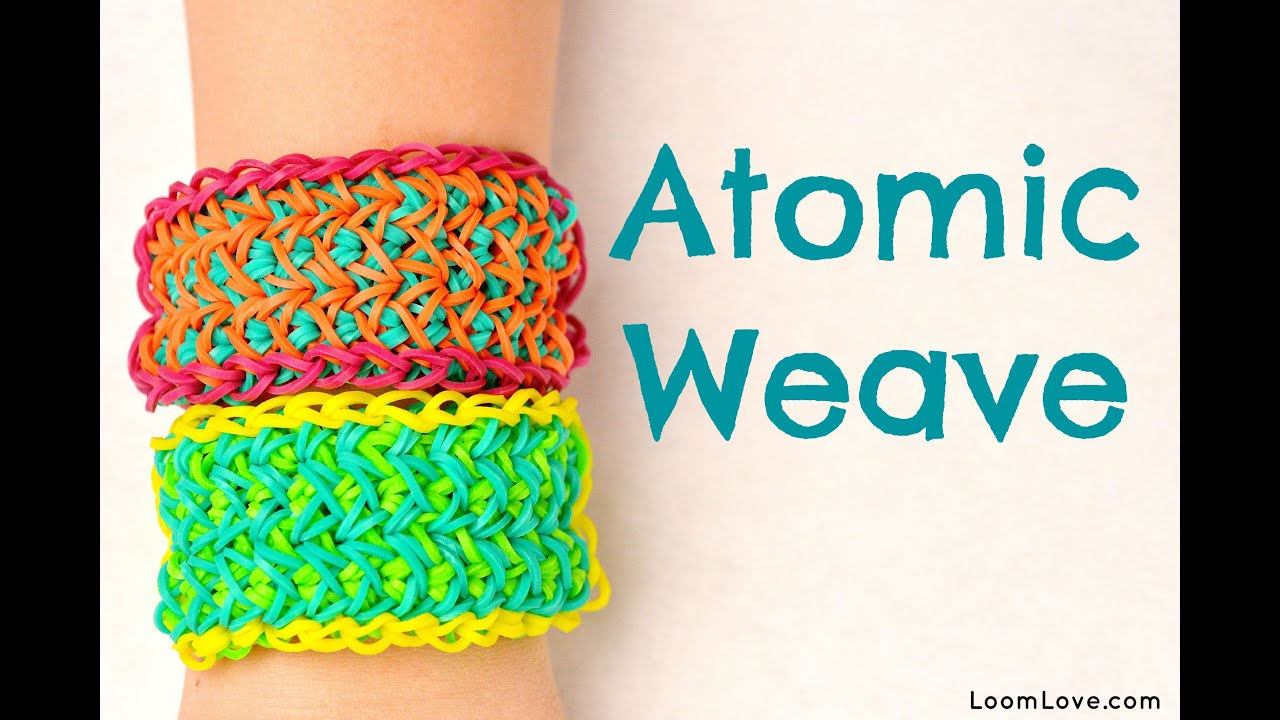 How To Make The Basket Weave Rainbow Loom : How to make the atomic weave rainbow loom bracelet