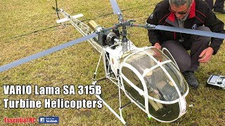 GAS TURBINE RC VARIO Lama SA 315B Scale Helicopters