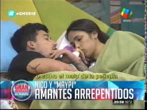 """""""Gran Hermano 2015"""": Maypi y Nicolás tuvieron sexo, pero luego se arrepintieron"""