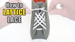 How to Lattice Lace your shoes – Professor Shoelace