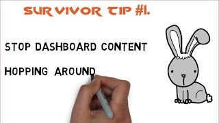 EXCEL Survivor Tips for Better Dashboards (#1 and #2 in Series).