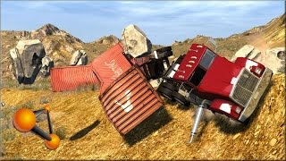 BeamNG Drive Rock Slides #3