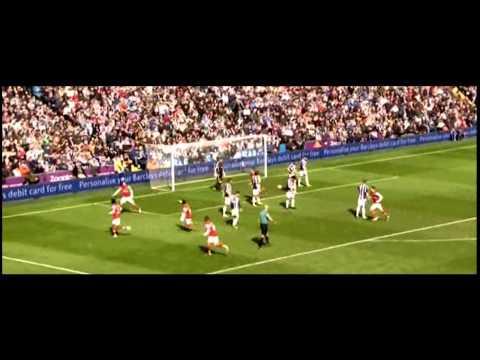 Mikel Arteta and Aaron Ramsey vs West Brom
