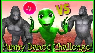 NEW! Dame Tu Cosita 2 VS Japan Challenge 🦍👽 Funny Dance Musical.ly Challenge