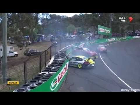 Samadi, Bergmueller and Taylor Big Crash @ 2014 Porsche Carrera Cup Ba