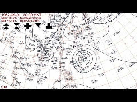The 1962 typhoon season with Hong Kong daily weather summaries