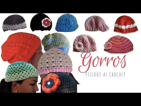 GORROS TEJIDOS A CROCHET (GANCHILLO) - YouTube