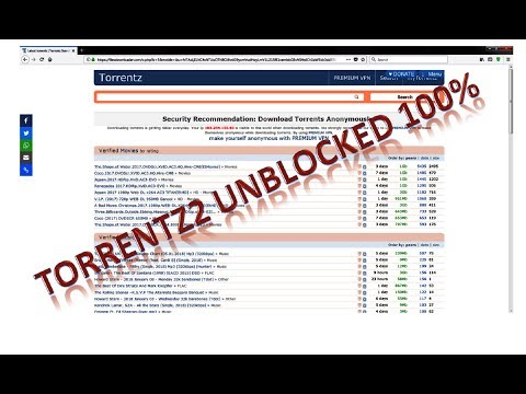 Torrentz2 Unblocked 100% - 2018 And 18 Active Torrents Sites - Free VPN ( IP Address ) Hiding Trick thumbnail