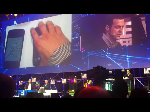Google's Eric Schmidt and Hugo Barra present a demo of new Android Icecream Sandwich