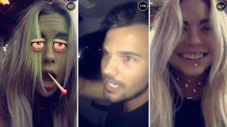Ashley Benson | September 27th 2015 | FULL SNAPCHAT STORY (featuring Taylor Lautner)