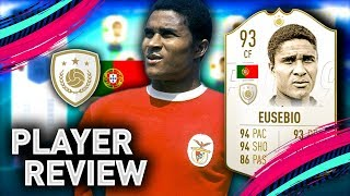 FIFA 19 PRIME EUSEBIO PLAYER REVIEW | 93 EUSEBIO | FIFA 19 ULTIMATE TEAM