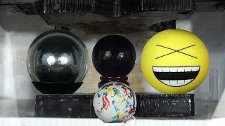 Exploding Balls Compilation | Obsidian | Fushigi | Jaw Breaker | Emoji |Crushed By Hydraulic Press