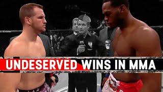 The Most Undeserved Wins In MMA