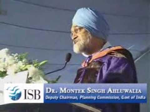 Montek Singh Ahluwalia @ ISB