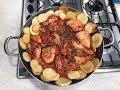 Pollo a la portguesa con papas provenzal