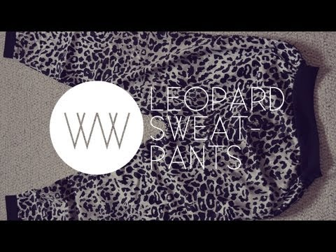 How to Make Sweatpants (2NE1 Fashion: Adidas Jeremy Scott Leopard Pants)