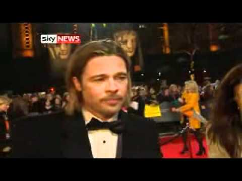 BAFTA Awards: Brad Pitt Talks To Sky News