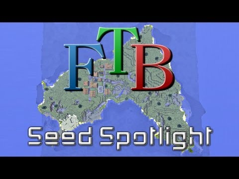 Minecraft Feed the Beast Unleashed Seed - Spawn Island Village!