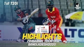 Highlights | Bangladesh vs Zimbabwe | 1st T20I | Zimbabwe tour of Bangladesh 2020