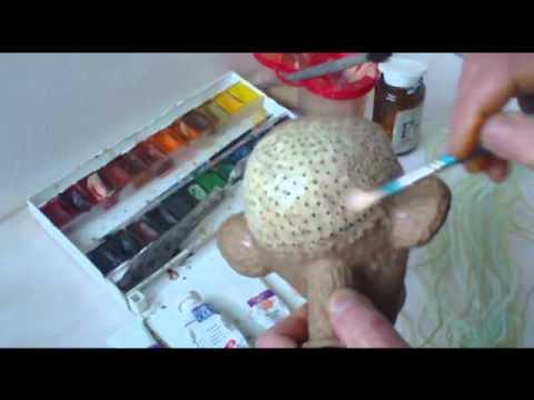 Как сделать волосы для куклы папье-маше