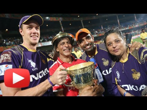 IPL 2014 - KKR Celebrates Win - Shahrukh In All Smiles - Victory Moments