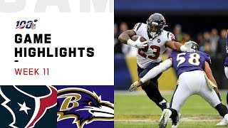 Texans vs. Ravens Week 11 Highlights | NFL 2019