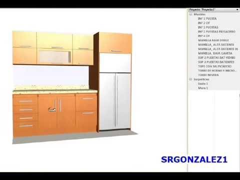 Crear tu propia cocina en madera melamina mdf youtube for Muebles de mdf para cocina