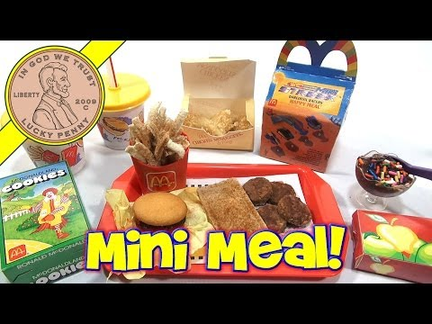 McDonald's Mini Happy Meal - Complete Toy Food Maker Collection!