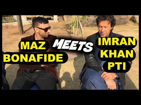 Maz Bonafide meets Imran khan PTI in Bani Gala, Islamabad, Pakistan