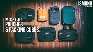 How to stay organized. Pouches & Packing Cubes // PACKING LIST