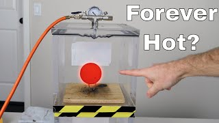 Will a Red Hot Nickel Ball (RHNB) Stay Hot Forever in a Vacuum Chamber?