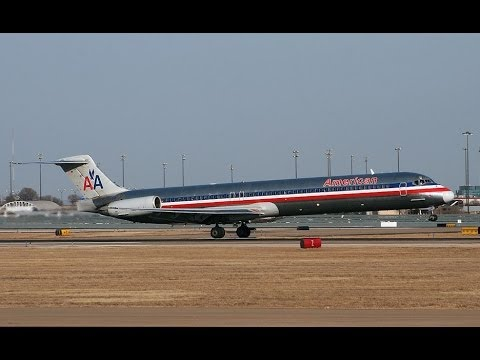 American Airlines McDonnell Douglas MD-80 Takeoff