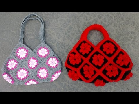 Granny Square Bag Crochet Tutorial Part 1 Of 3   Joining The Granny Squares