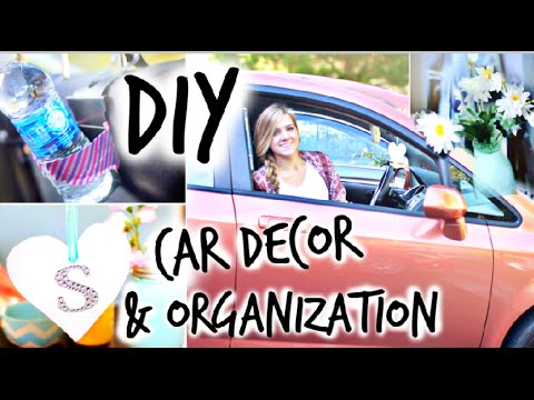 Diy car decor organization youtube for How to decorate your car interior