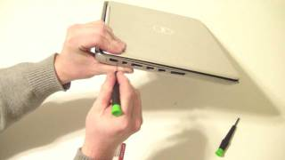 Dell XPS 15z Disassembly - Bottom Cover Case Assembly How to Remove to Upgrade