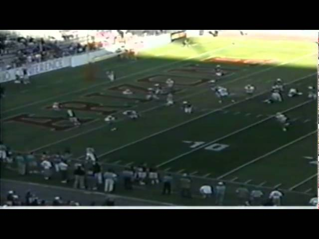 Oregon FB A.J. Jelks 6 yard touchdown catch vs. Arizona 11-11-1995