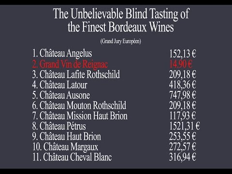 bordeaux : the unbelievable blind tasting of the finest bordeaux wines