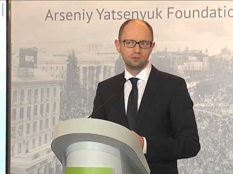7th Kyiv Security Forum. Day 1: Opening Speech by Arseniy YATSENYUK, Prime-Minister of Ukraine