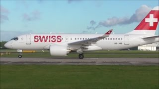 Swiss Air Bombardier C Series CS100, Take Off From Manchester Airport | 22/09/16