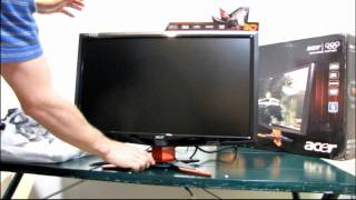 Acer GD235HZ BID 23.6 3D Vision 120HZ 1080p LCD Monitor Unboxing & First Look Linus Tech Tips