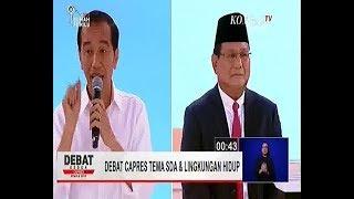 Debat kedua Capres Pemilu 2019    lingkungan hidup dan agraria    Pilpres 17 feb 2019