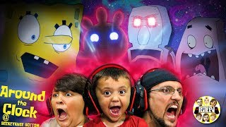 SPONGEBOB SCAREPANTS! (FGTeeV plays Around the Clock @ BB #1) + SKIT