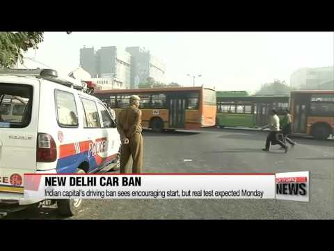 New Delhi introduces driving ban to tackle air pollution