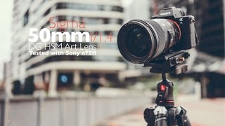 Sigma 50mm f/1.4 DG HSM Art Lens 4K Video Test (Shot it with Sony A7SII)